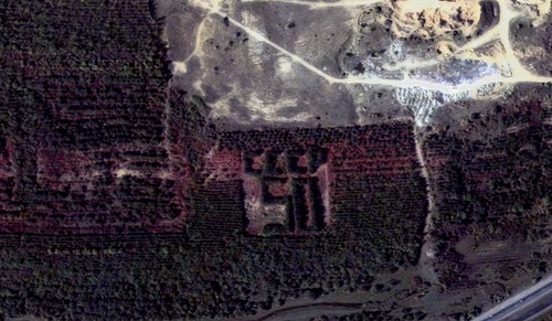 Russian satellite artefacts on google maps 9
