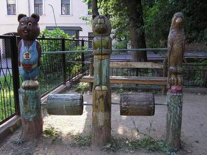 Russian playground for kids made in Gothic style 14