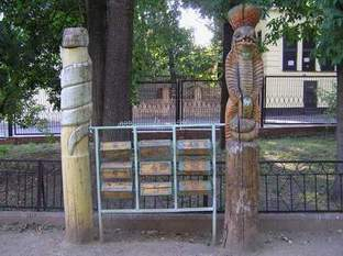 Russian playground for kids made in Gothic style 16