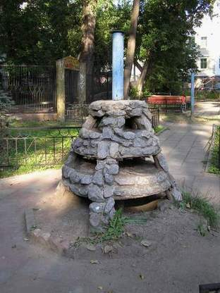 Russian playground for kids made in Gothic style 4