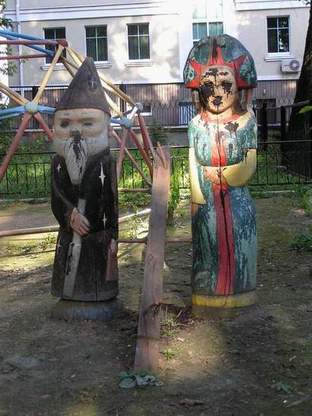 Russian playground for kids made in Gothic style 5