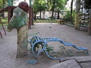 Russian playground for kids made in Gothic style 7