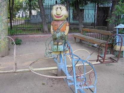 Russian playground for kids made in Gothic style 9