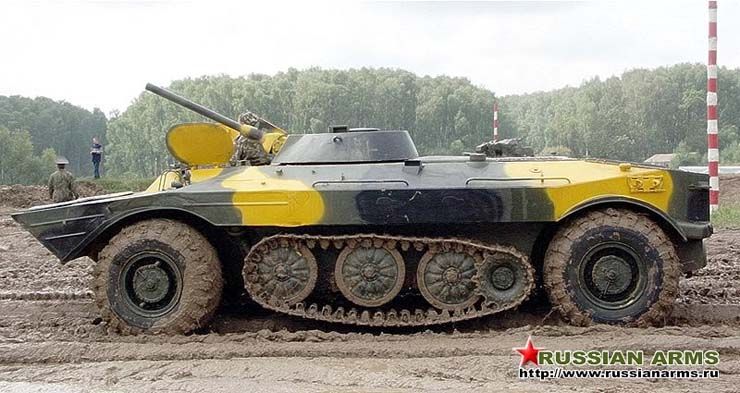 Russian tank tank with wheels and tracks  2