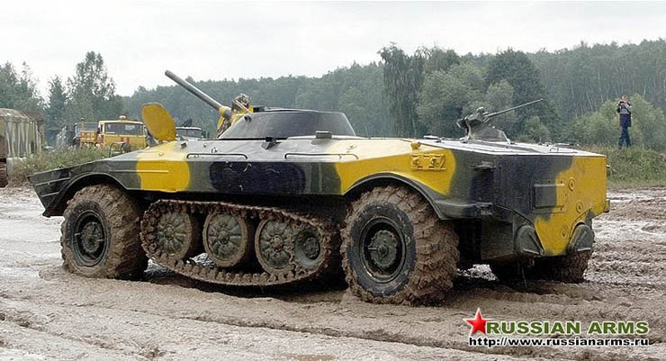 Russian tank tank with wheels and tracks  4