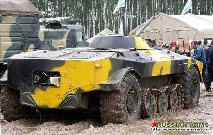 Russian tank tank with wheels and tracks  6