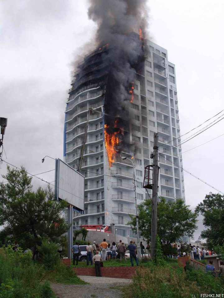 heavy fire took place in Vladivostok 5