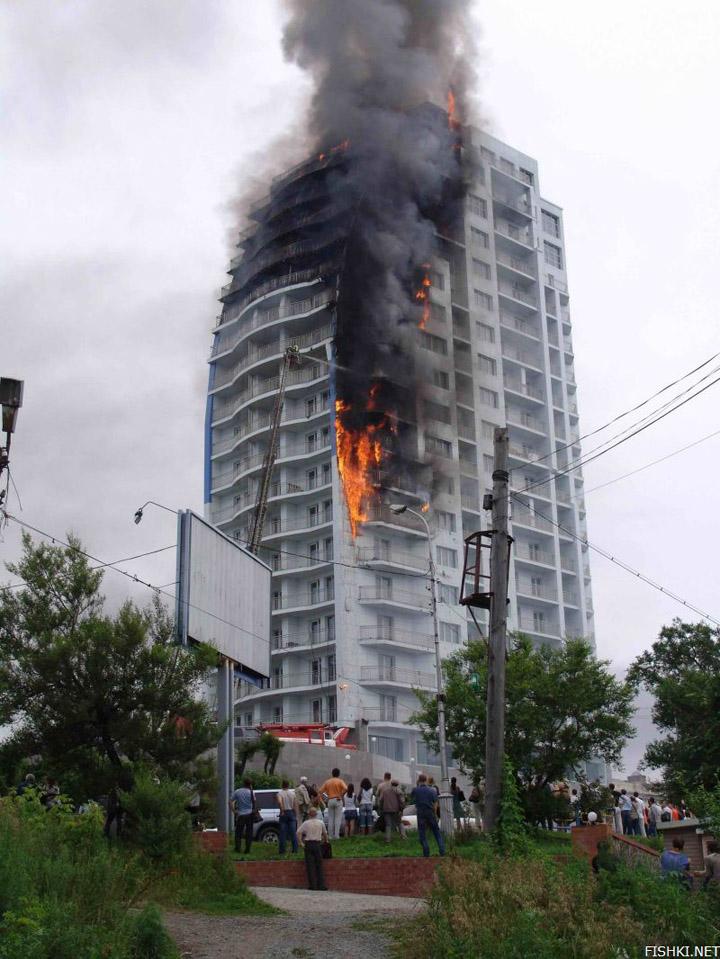 heavy fire took place in Vladivostok 5