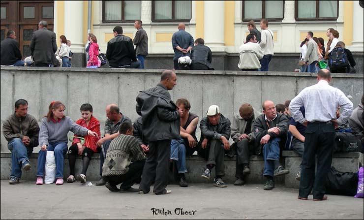 Homeless people at Moscow, Russia 16