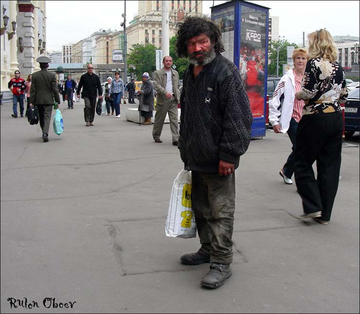 Homeless people at Moscow, Russia 2