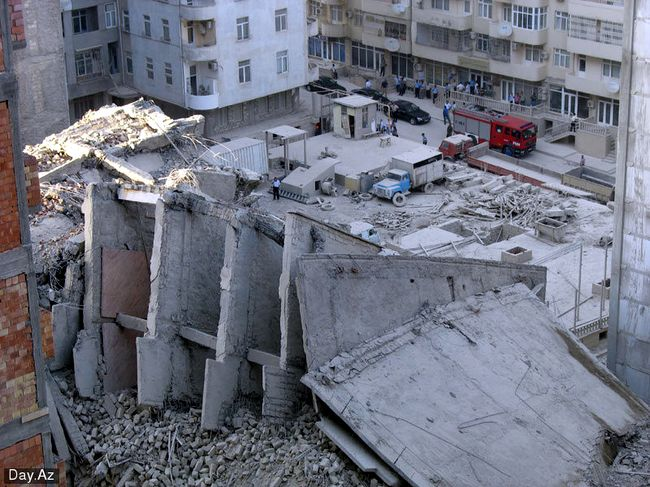 house collapsed in Azerbajan 1
