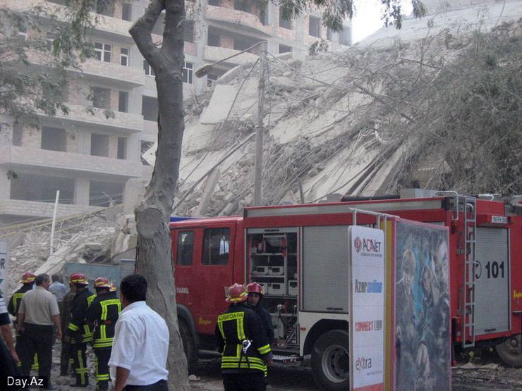 house collapsed in Azerbajan 11