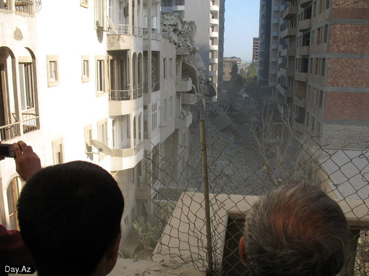 house collapsed in Azerbajan 15