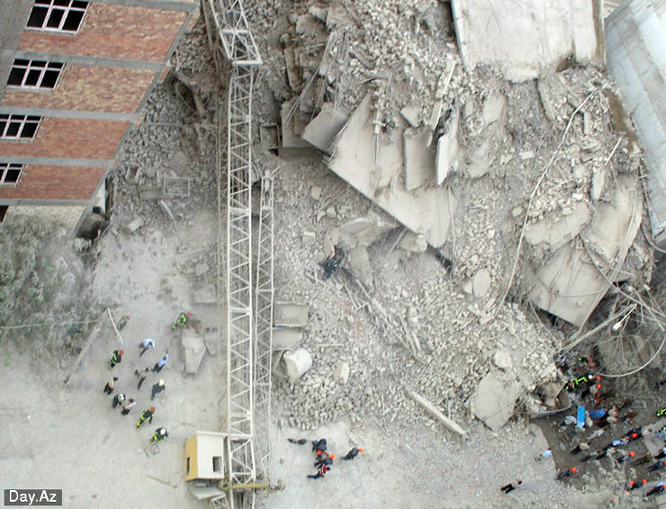 house collapsed in Azerbajan 16
