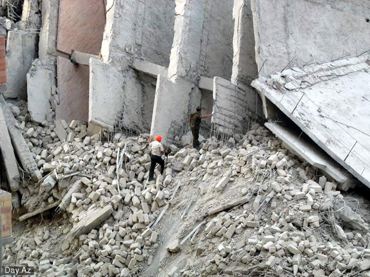 house collapsed in Azerbajan 7
