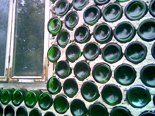 house made of bottles