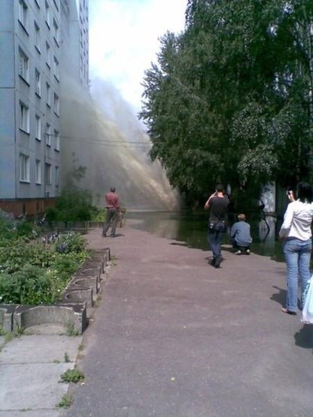 Russian house got showered