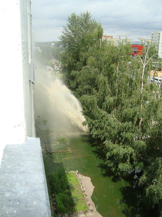 Russian house got showered 2