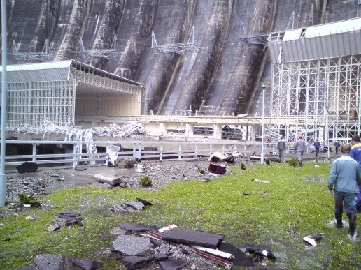 Russian Electic Hydro Power Plant Explosion 10