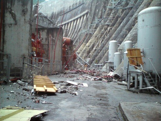 Russian Electic Hydro Power Plant Explosion 6