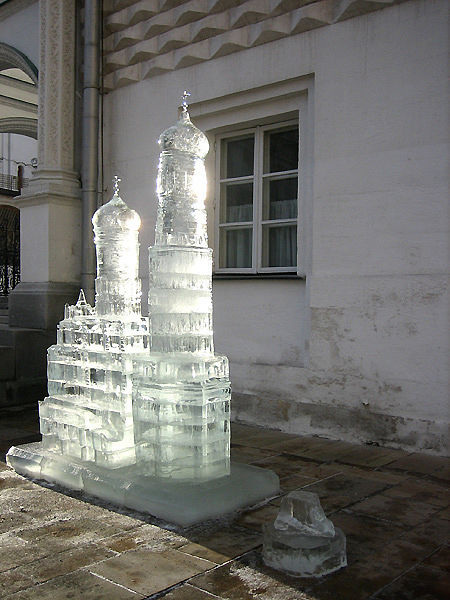 ice statues in Moscow Kremlin 2