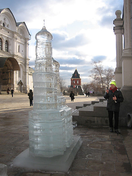 ice statues in Moscow Kremlin 3