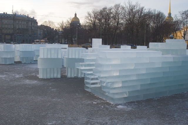 An ice palace in St. Petersburg 1