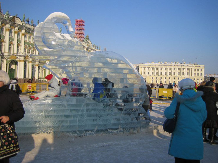 An ice palace in St. Petersburg 11