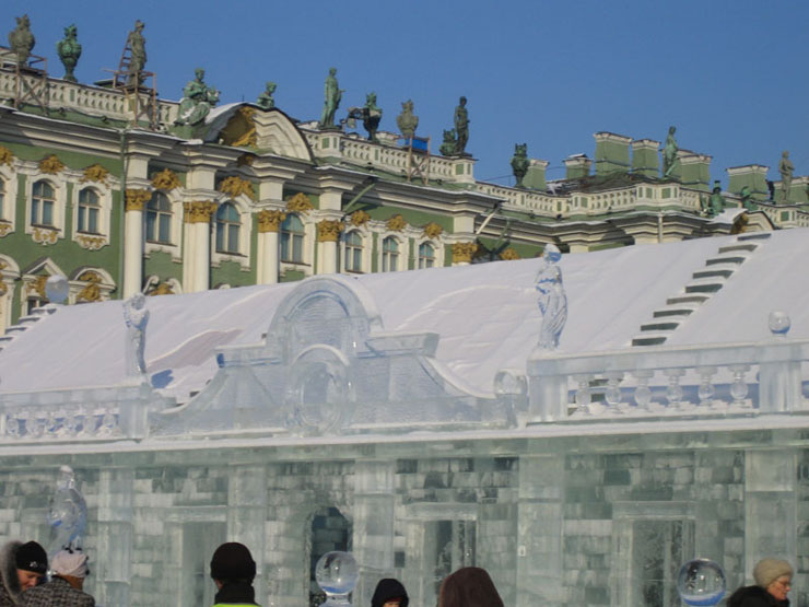 An ice palace in St. Petersburg 12