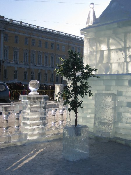 An ice palace in St. Petersburg 21