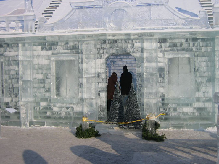 An ice palace in St. Petersburg 5