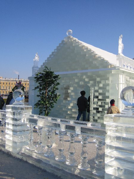 An ice palace in St. Petersburg 6