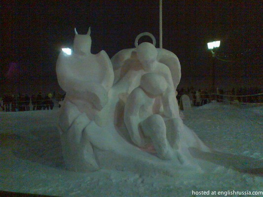 Ice and Snow Sculptures in Petrozavodsk