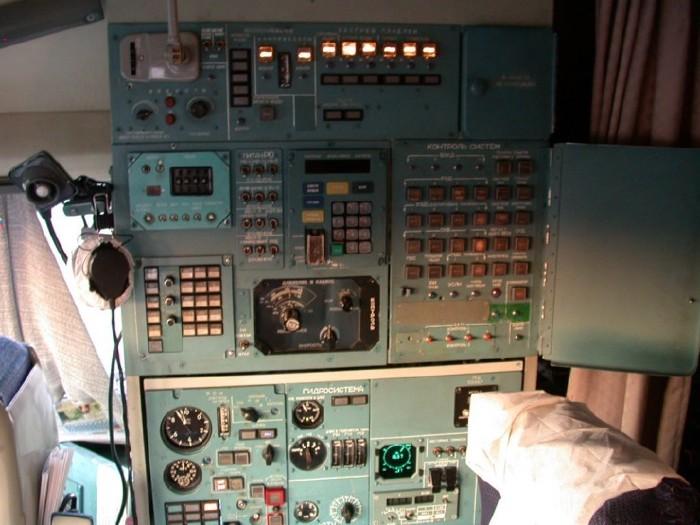Russian IL-96 Plane Cockpit Shots