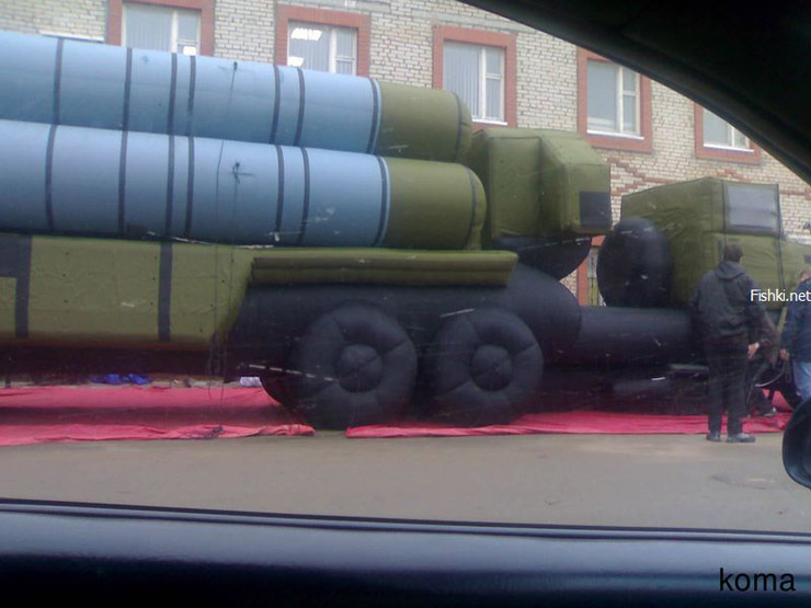 Russian inflatable missiles 5
