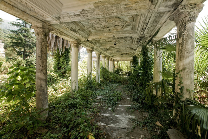 abandoned railway station in Abkhazia, Russia 1