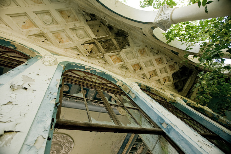 abandoned railway station in Abkhazia, Russia 10