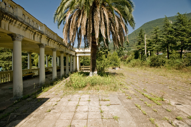 abandoned railway station in Abkhazia, Russia 12