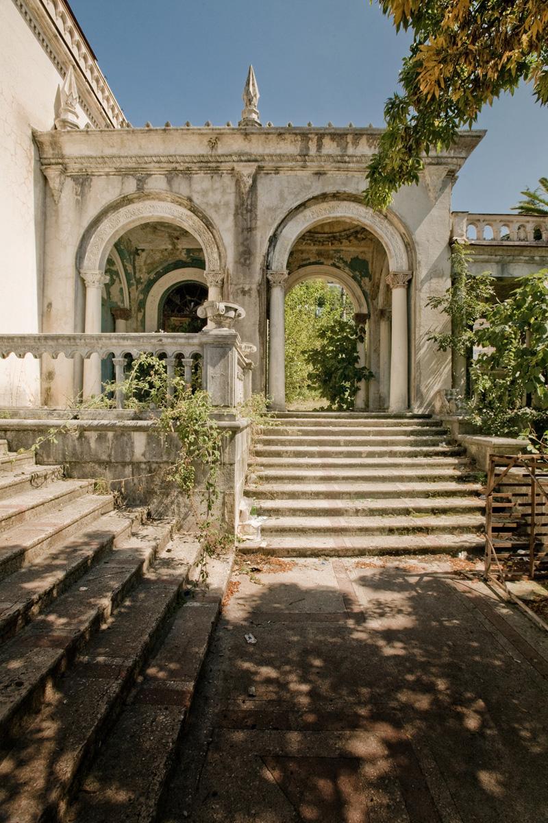 abandoned railway station in Abkhazia, Russia 2