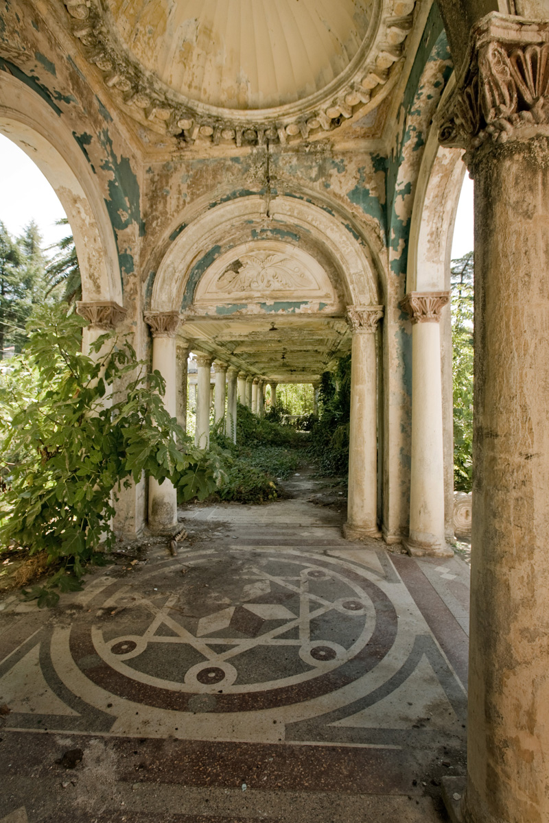 abandoned railway station in Abkhazia, Russia 7