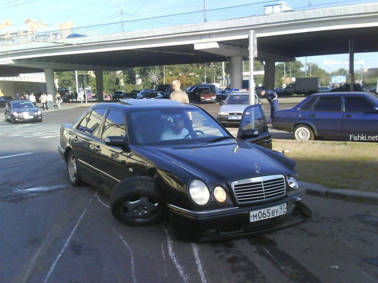 an ordinary car accident in Moscow 3