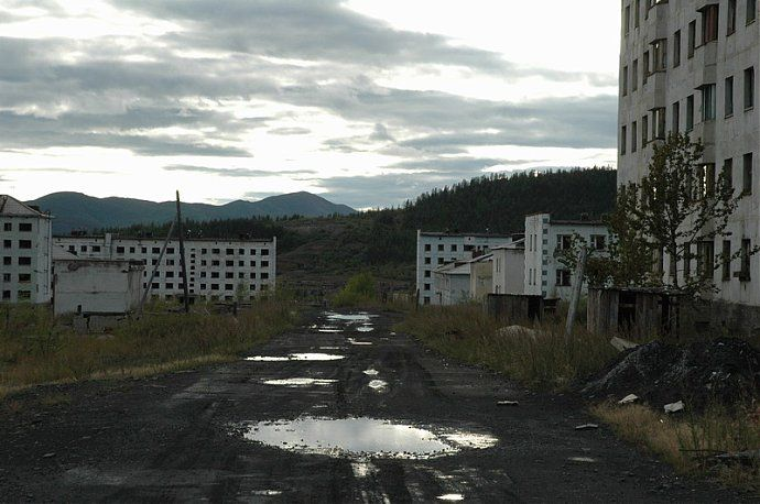 Russian dead town - stays abandoned 70