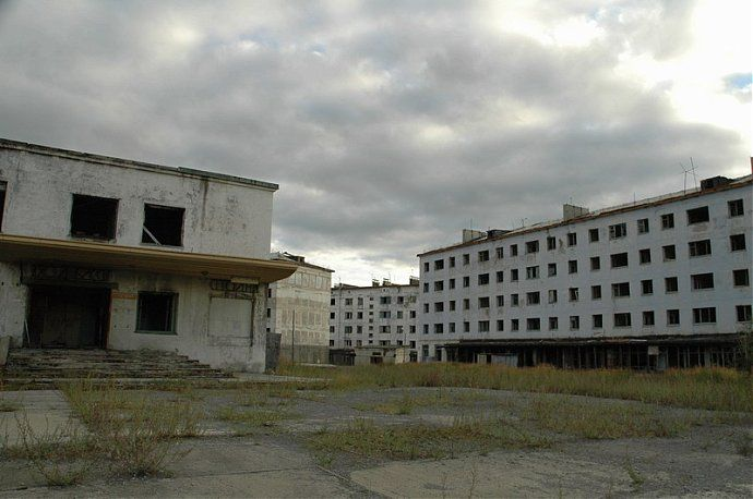 Russian dead town - stays abandoned 13