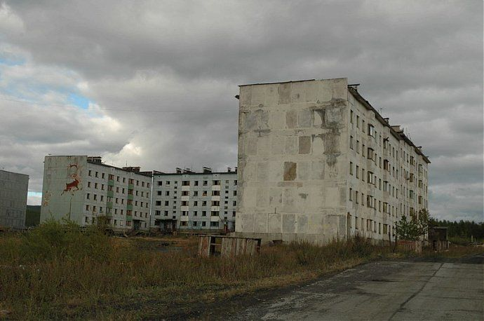 Russian dead town - stays abandoned 37