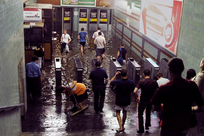 kiev subway flooded 1