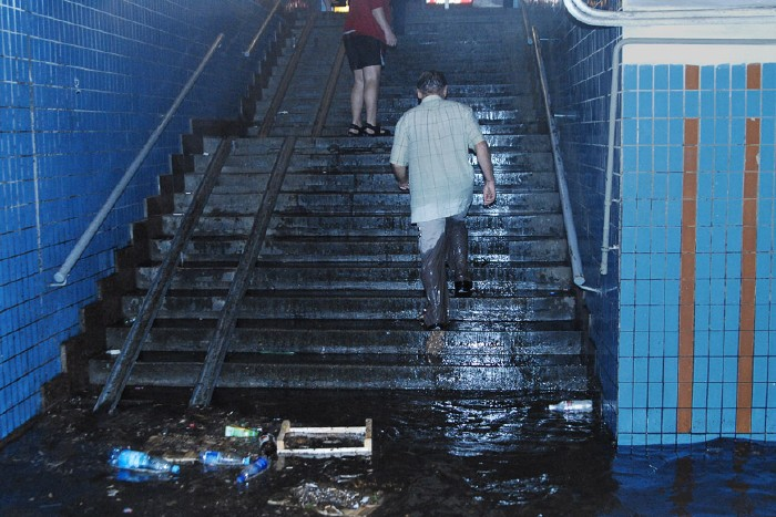 kiev subway flooded 8