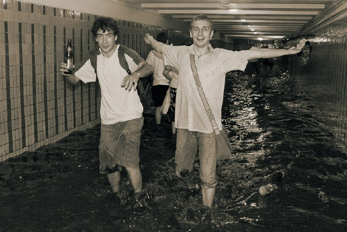 kiev subway flooded 9