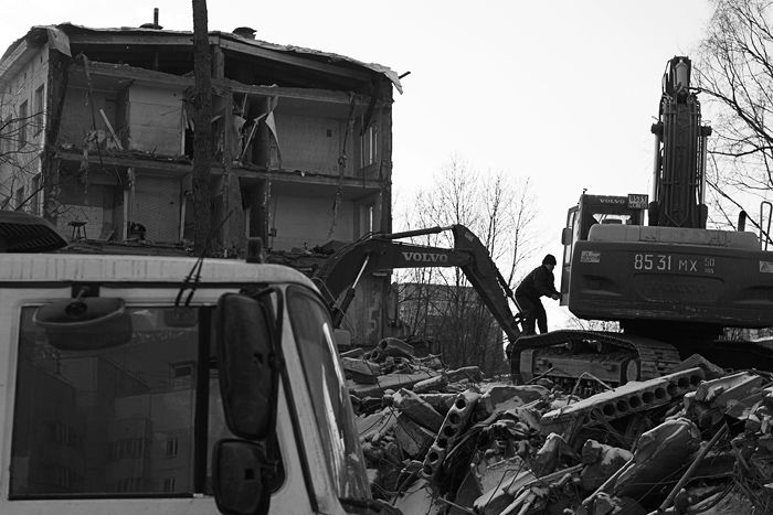demolition of the houses in Russia 2