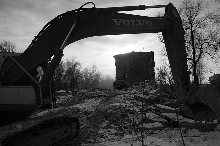 demolition of the houses in Russia 3
