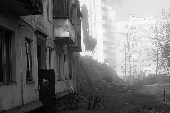 demolition of the houses in Russia 4